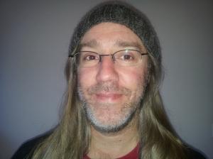 Mark modelling my Nuzzle Hat!