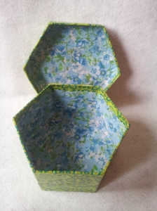 Decopatch project number two. Ideal for storing bits and bobs, or to wrap a gift.