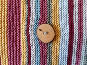 Lovely wooden buttons for my  first ever button holes.