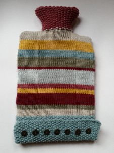 Lovely, stripy cosiness. I do love a hot water bottle to snuggle up with.