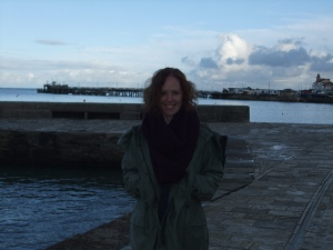 A slightly dark and blowy day recently in Swanage. But I didn't care, wrapped up as I was in my lovely new cowl.