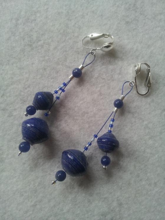 Beautiful acholi bead earrings.