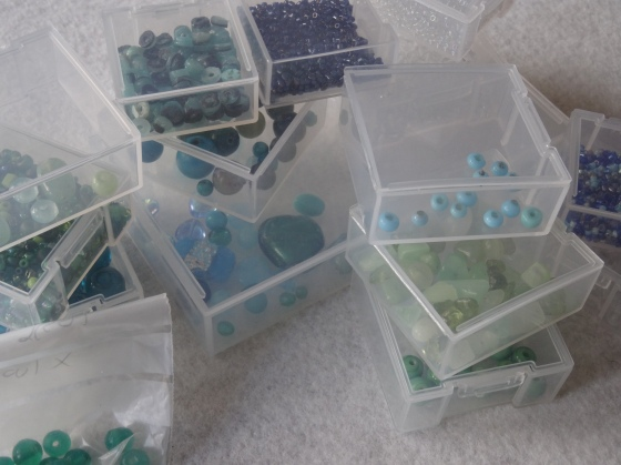 Unsuspecting beads, about to find themselves in a mosaic.